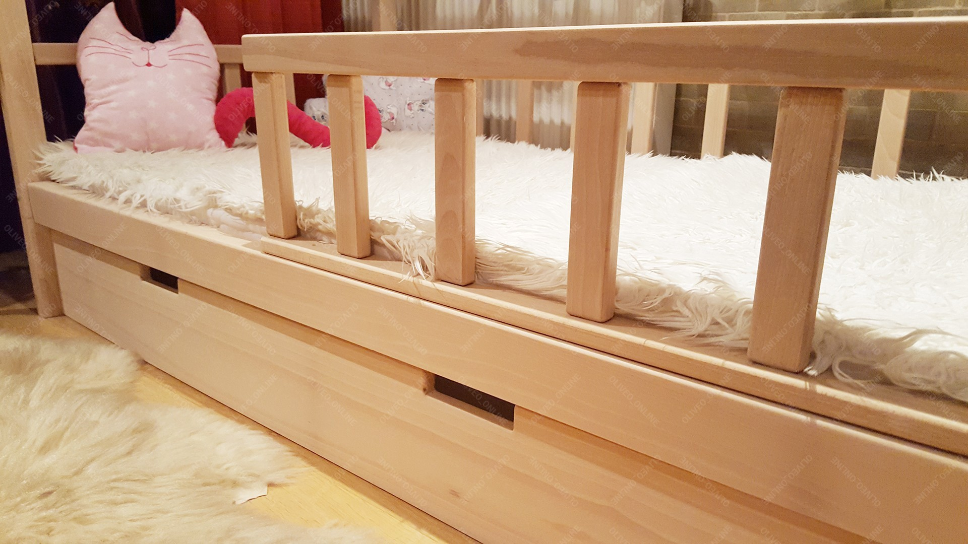 lit cabane bois de h tre 90 x 180cm. Black Bedroom Furniture Sets. Home Design Ideas