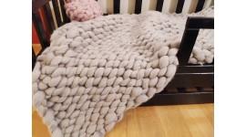 Couvertures douces, couverture en laine mérinos, couverture en laine tressée, antiallergique, couvre-lit cadeau parfait,HANDMADE