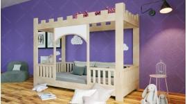 Le lit d'enfant en forme de château
