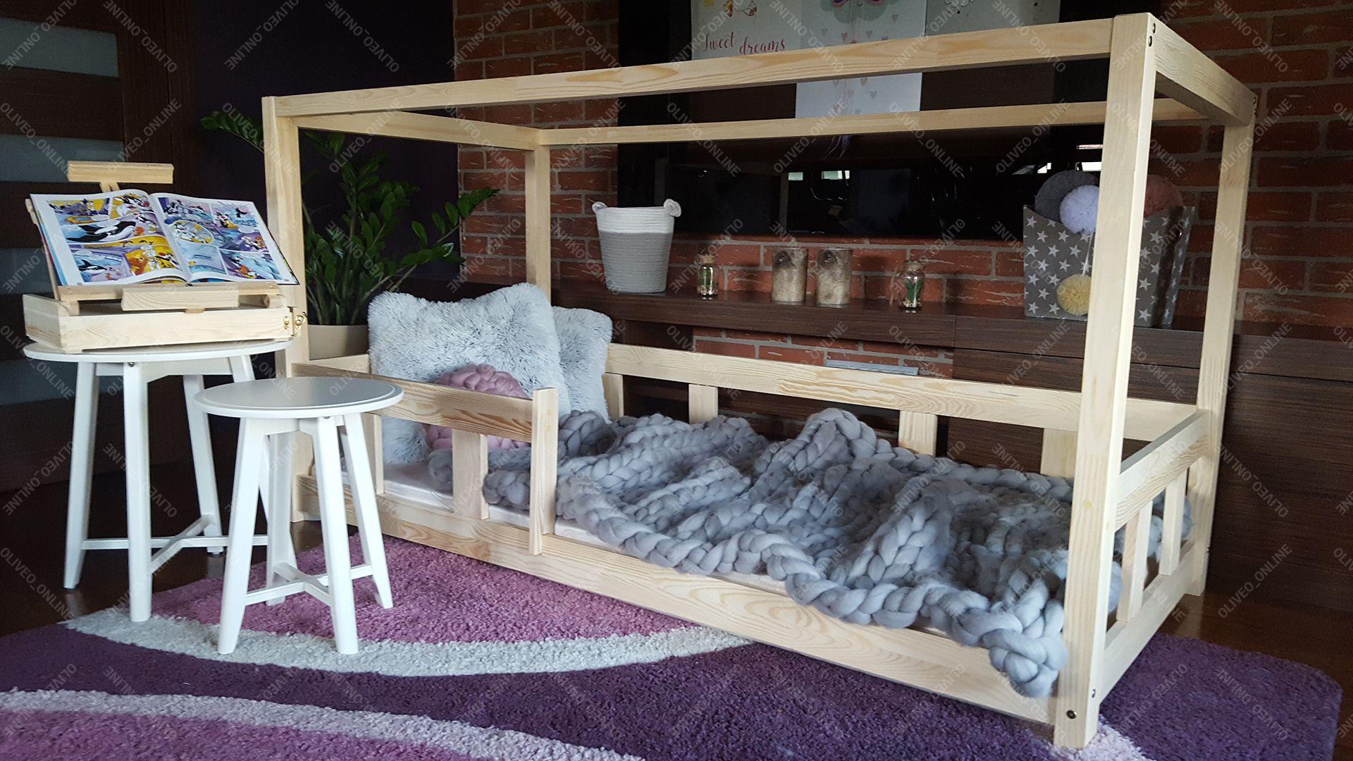 Letti A Castello per bambini Letto casa legno naturale 23 ...