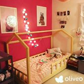 """Make your dreams come true. Live as you desire."""" - Henry David ThoreauHousebed from #Oliveo.eu brand in the arrangement sent by one of our customers. How do you like the individual style of the bed bought from Oliveo, which is a fulfilled dream of a small child? #woodentoys #ecotoys #organictoys #scanditoys #scandiroom #drewnianezabawki #lukh #handmadetoys #housebed #toddlerbed #hausebett #abacus #rainbowtoy #xylophone #planetcutethings #kidsinteriors_com #kidsroom #kinderzimmerdeko #nurserydecor #shopsmall #ciaobambino1"""